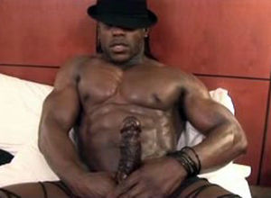 Ebony fellow stripper with enormous..