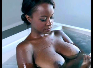 Ebony queen with a meaty  pummeled..