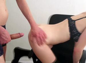 Blinded honey gets ass fucking fuckin'..