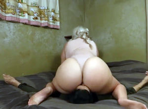 Marvelous blondie Plus-size wifey  on..