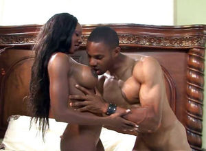 Cool ebony Cougar Diamond Jackson, has..