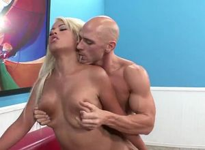 Huge-chested stunner Bridgette B gets..