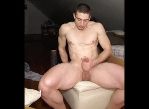 Naked stud with    penis