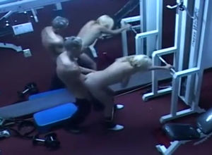 Security webcam in italian gym pound..