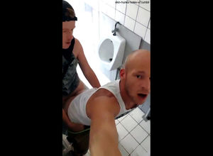 Shaven homosexual gets ass-fuck..
