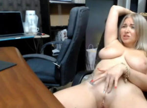 Fat breasted cam cockslut having a few..