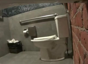 Restaurant Restroom urinate hidden cam