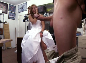 Teenager bride in a wedding dress...