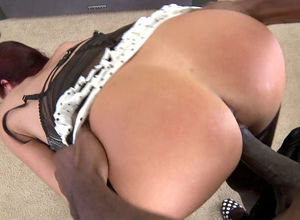 Sex-starved ebony stud licks, kneads..