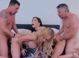 Swingers invite their fresh neighbors,..
